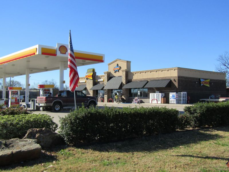 Shell Gas Station and Sonic Drive in